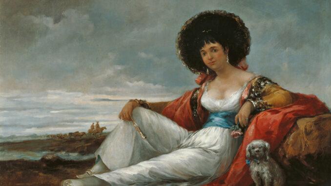 """Velázquez, """"Maja mit Schoßhund"""" (1865) Museo Carmen Thyssen"""